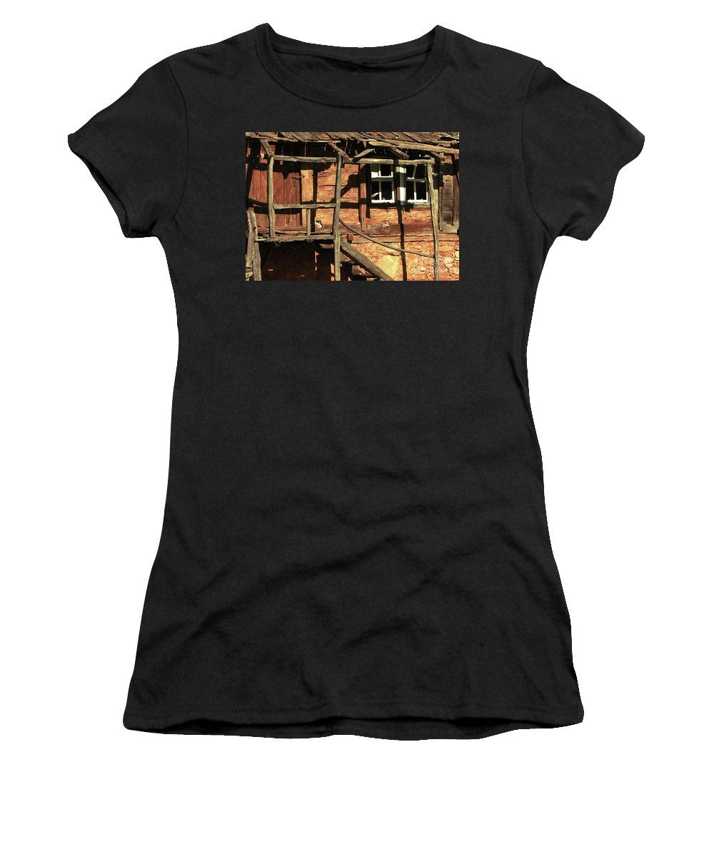 Home Women's T-Shirt featuring the photograph Abandoned Home by Christo Christov