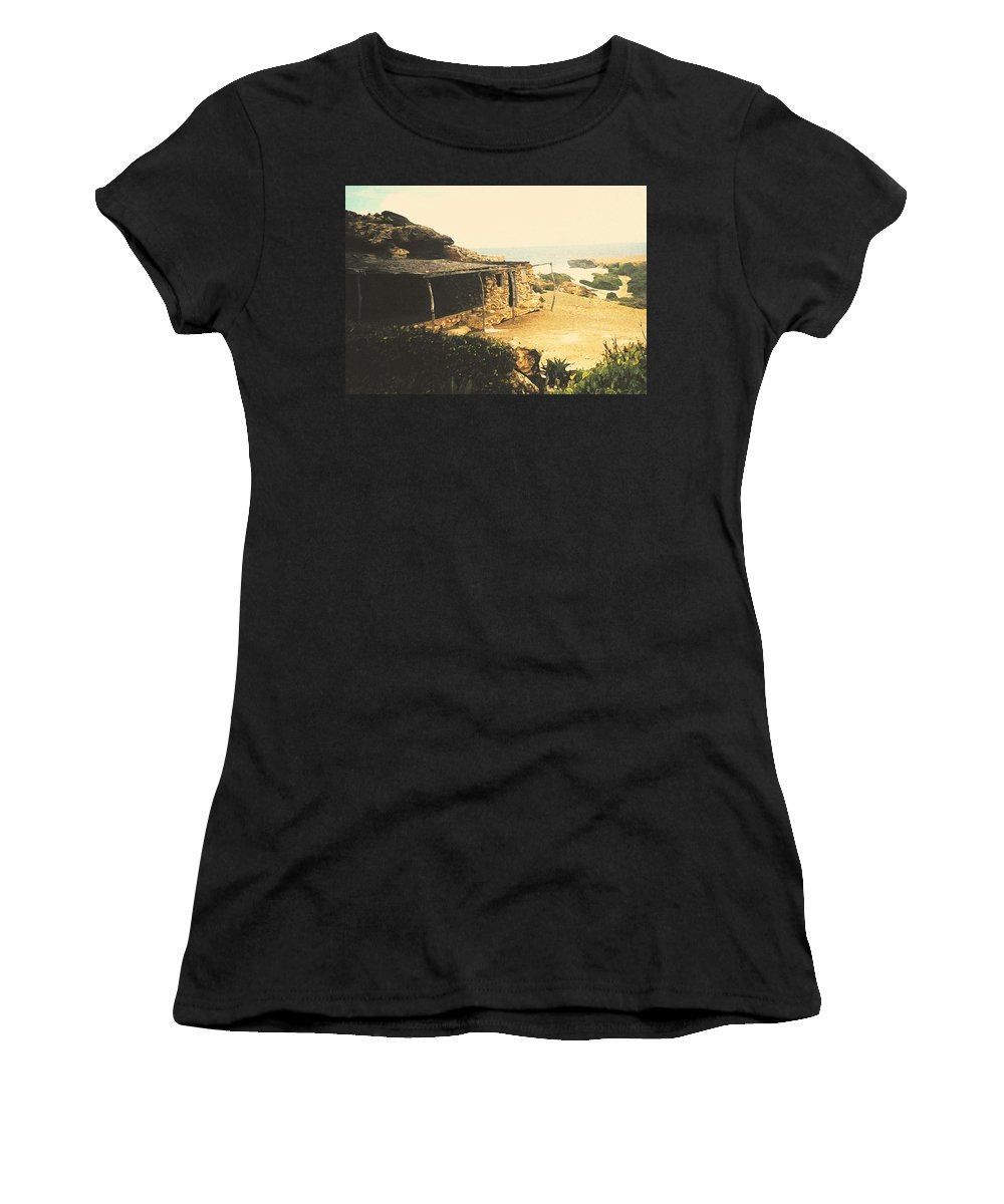 Aruba Women's T-Shirt (Athletic Fit) featuring the photograph Abandoned In Aruba by Ian MacDonald