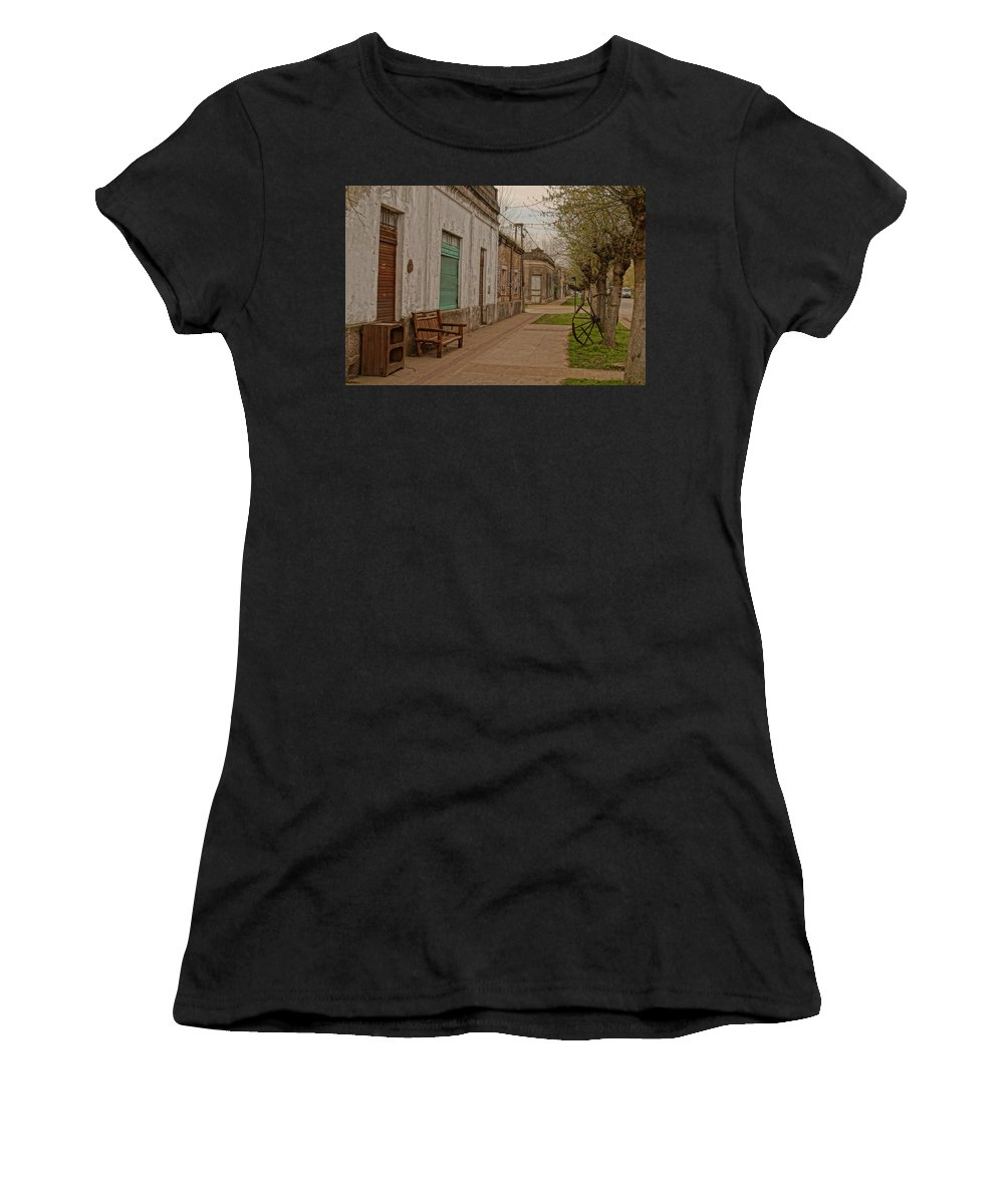 Old Town Women's T-Shirt (Athletic Fit) featuring the photograph Abbot by Laura Gallina