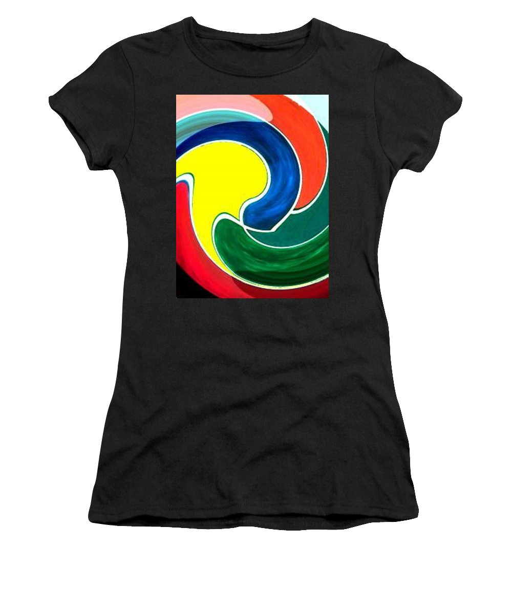 Digitalized Women's T-Shirt (Athletic Fit) featuring the digital art Abbs by Andrew Johnson