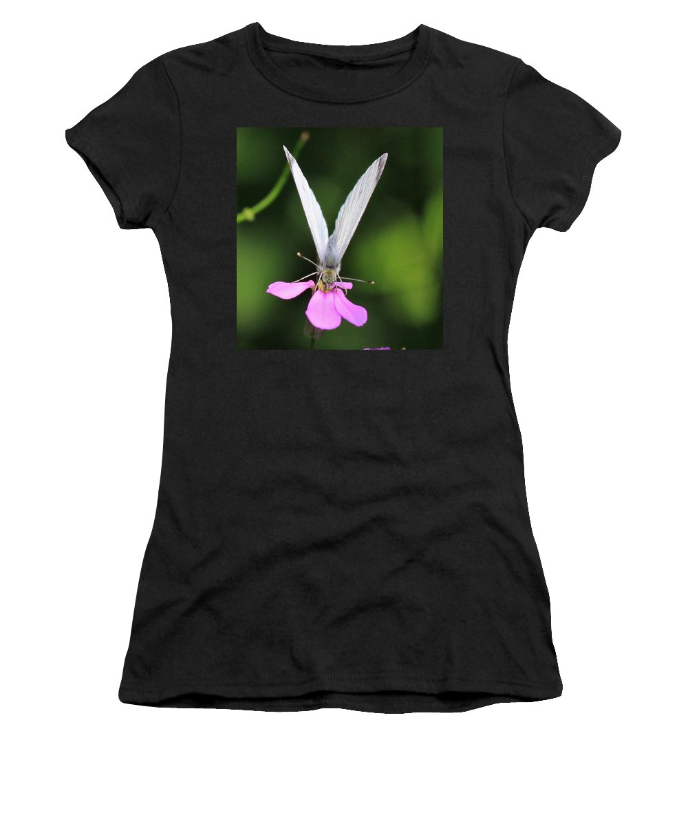 Related Tags: Butterfly Artwork Women's T-Shirt (Athletic Fit) featuring the photograph About Face by Robert Pearson