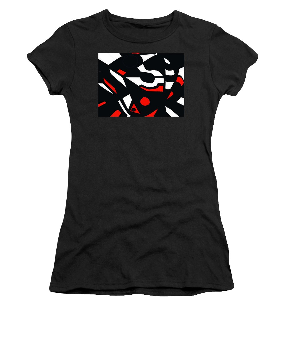Abstract Women's T-Shirt (Athletic Fit) featuring the digital art Abstrac7-30-09 by David Lane