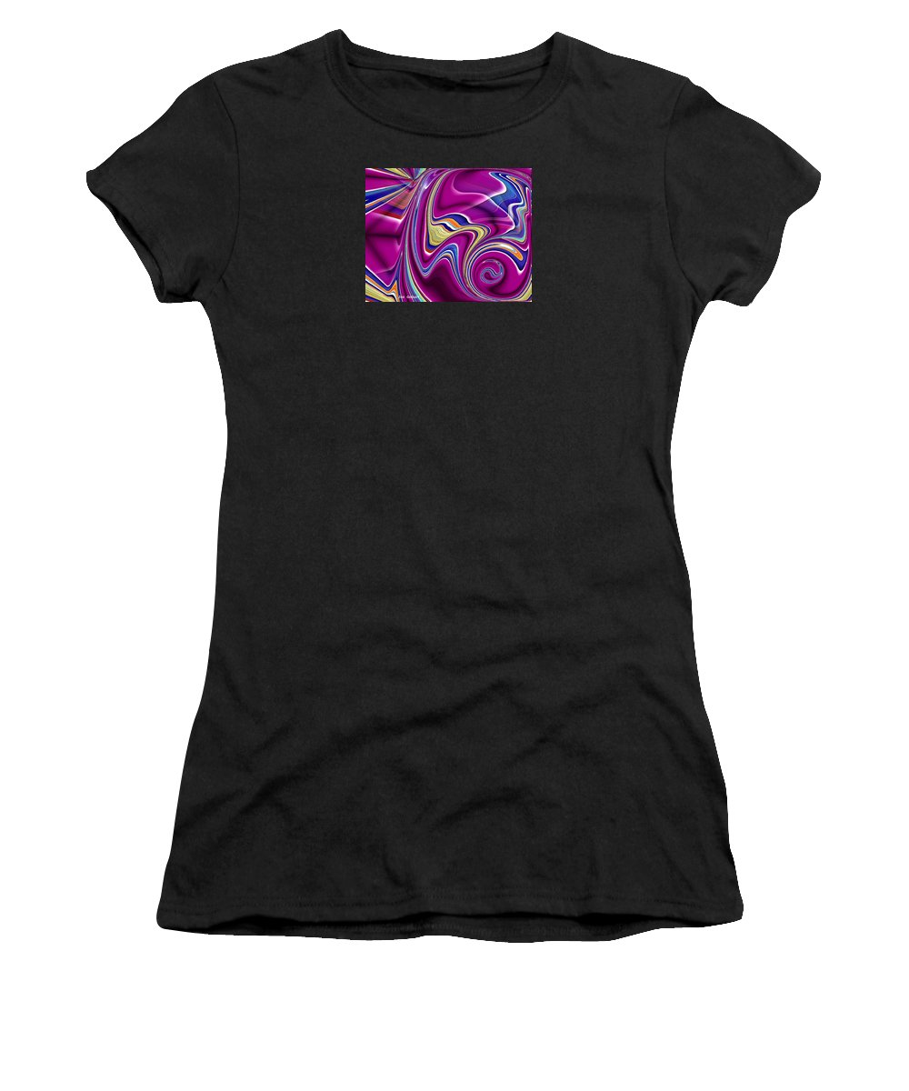 Abstract Women's T-Shirt (Athletic Fit) featuring the digital art Abstract #49 by Iris Gelbart