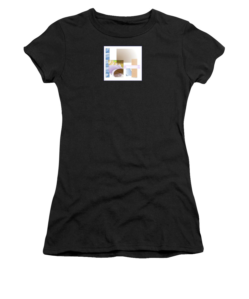 Abstract Women's T-Shirt (Athletic Fit) featuring the digital art Abstract #503 by Iris Gelbart