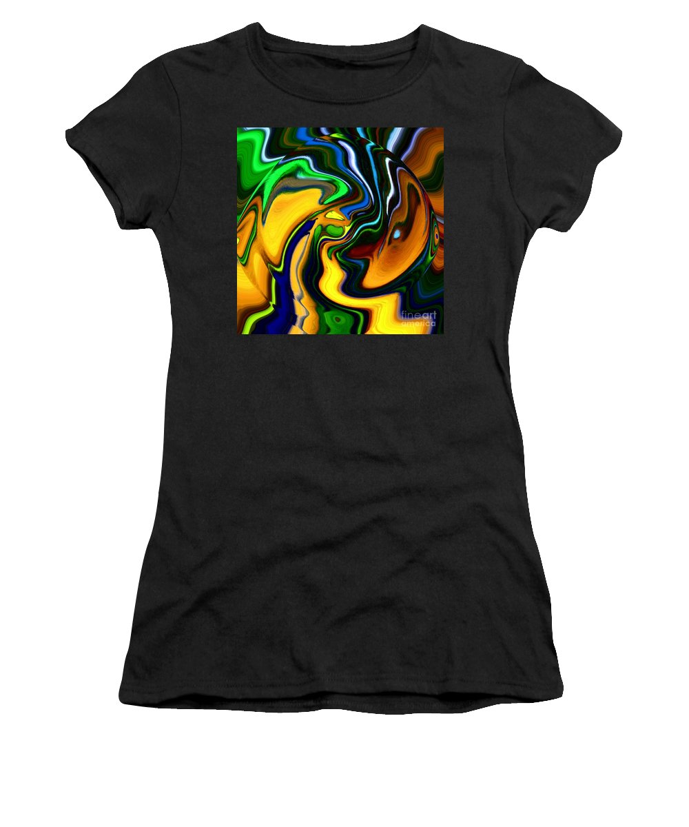 Abstract Women's T-Shirt featuring the digital art Abstract 7-10-09 by David Lane