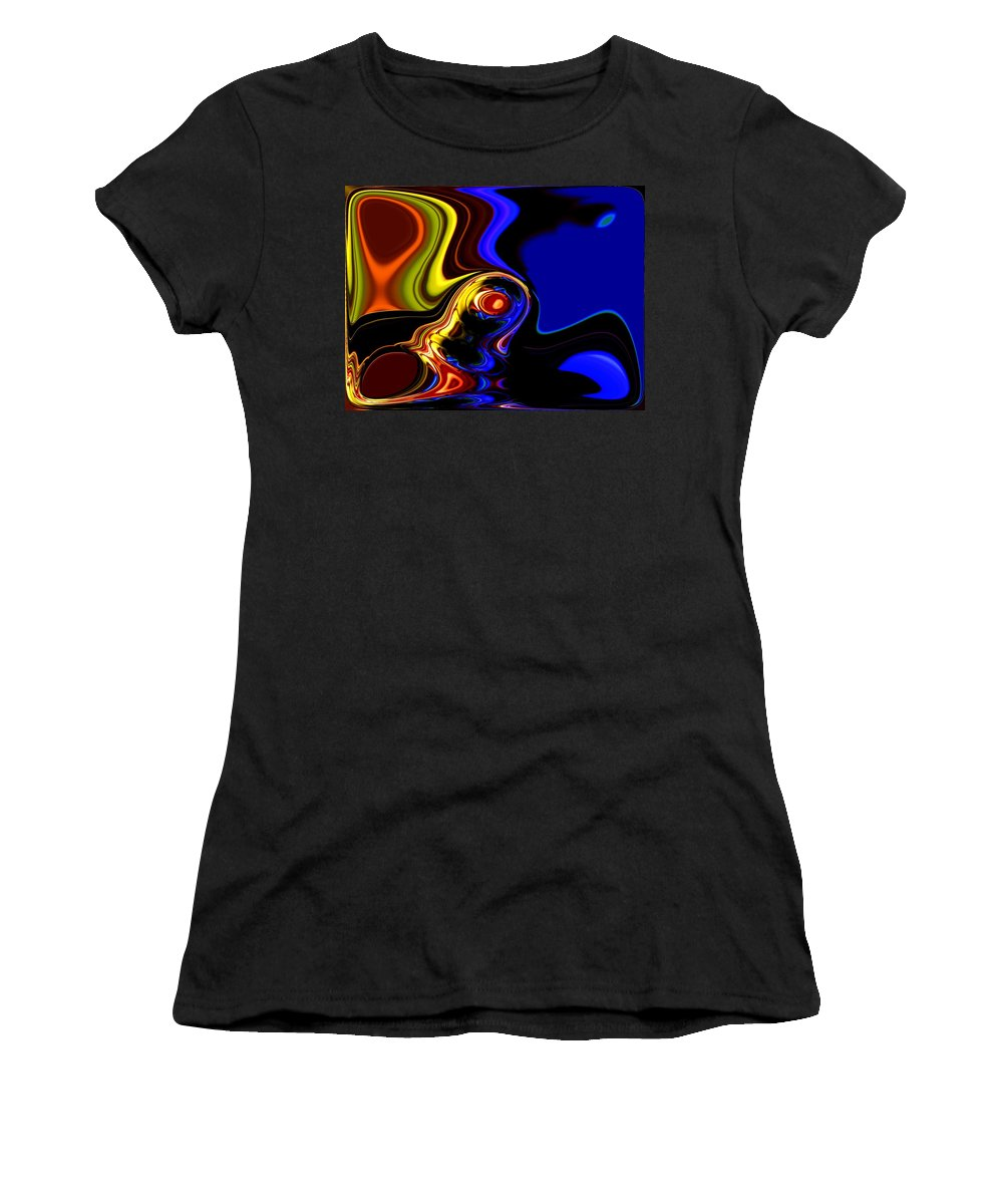 Abstract Women's T-Shirt (Athletic Fit) featuring the digital art Abstract 7-26-09 by David Lane