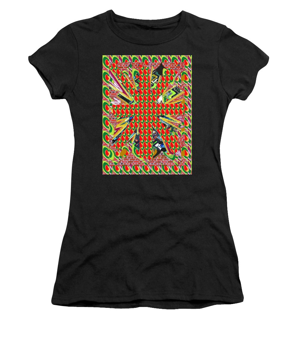 Leaf Women's T-Shirt featuring the photograph Abstract Flowers Floral Leaf Leaves Colorful Modern Art Navinjoshi Fineartamerica Pixels by Navin Joshi