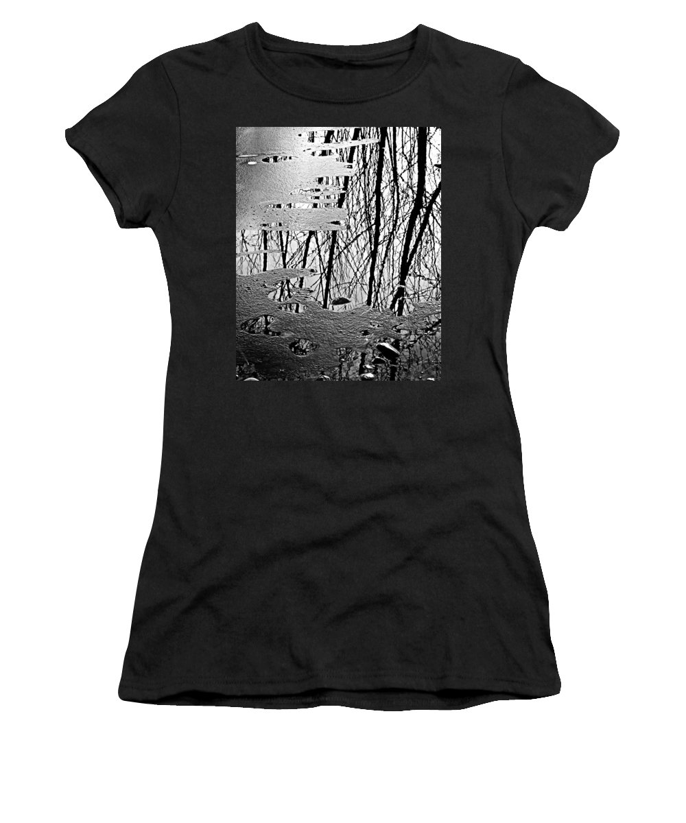 Ice Women's T-Shirt featuring the photograph Abstract In Ice by Marilyn Hunt