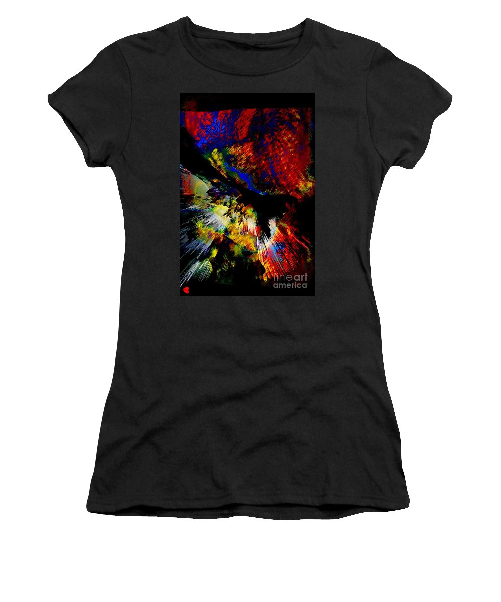 Abstract Pm Women's T-Shirt featuring the painting Abstract Pm by Catherine Lott