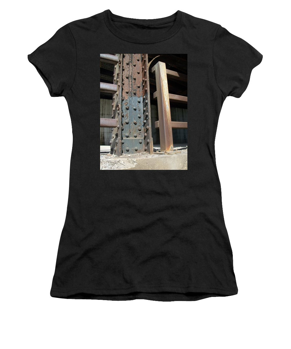 Urban Women's T-Shirt (Athletic Fit) featuring the photograph Abstract Rust 1 by Anita Burgermeister