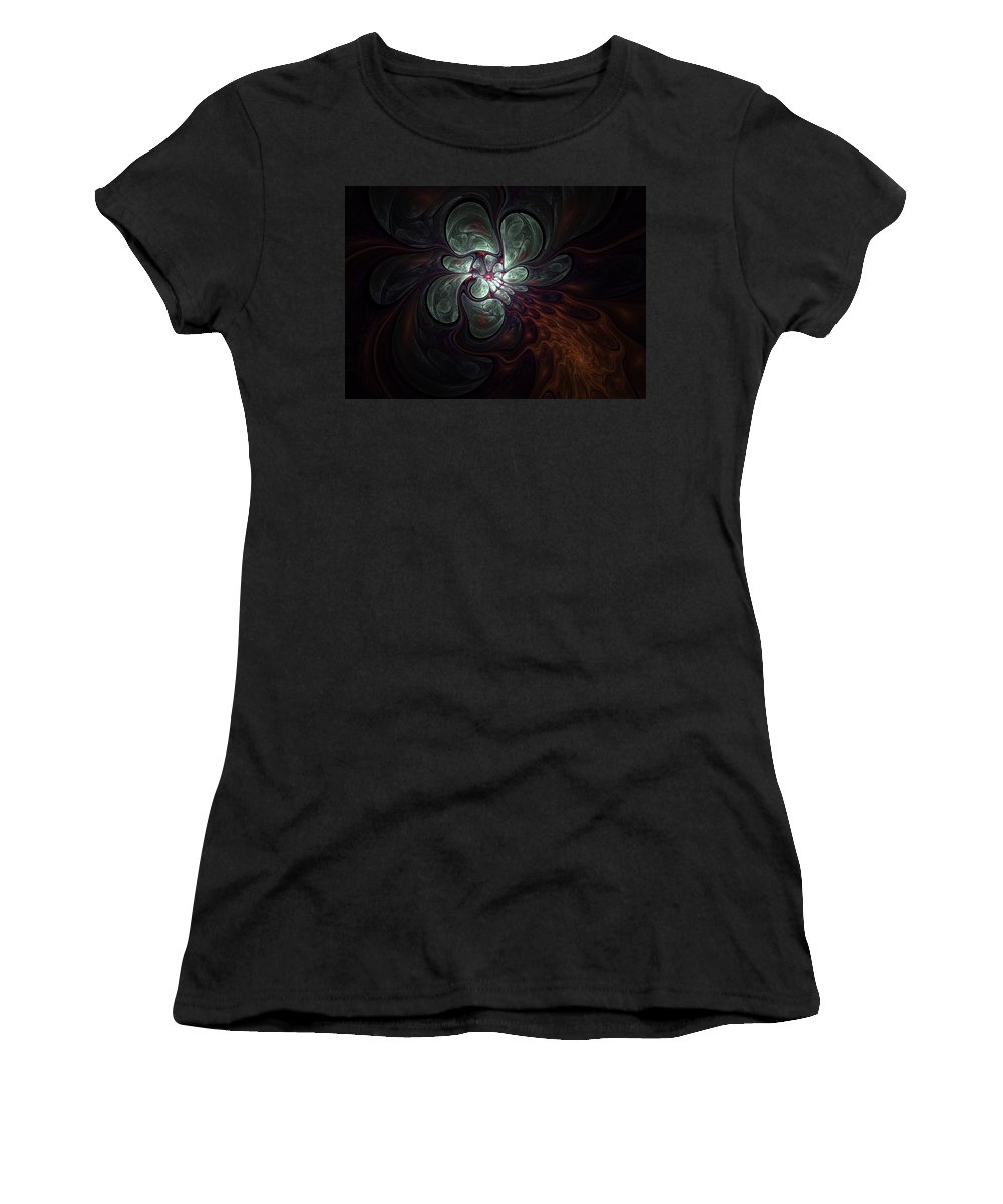 Digital Painting Women's T-Shirt (Athletic Fit) featuring the digital art Abstract051710a by David Lane