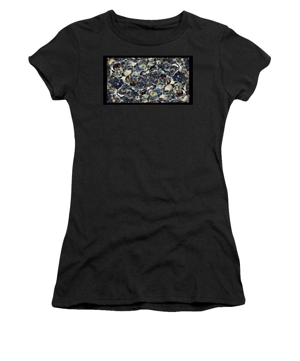 Abstraction Women's T-Shirt (Athletic Fit) featuring the digital art Abstraction 2327 by Marek Lutek