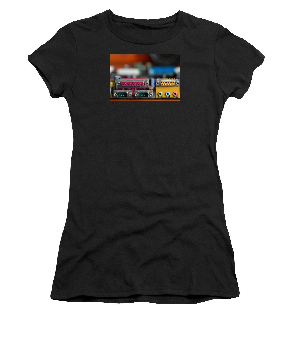 Computer Women's T-Shirt (Athletic Fit) featuring the photograph Access To The Cyber Dimension by Guido Strambio