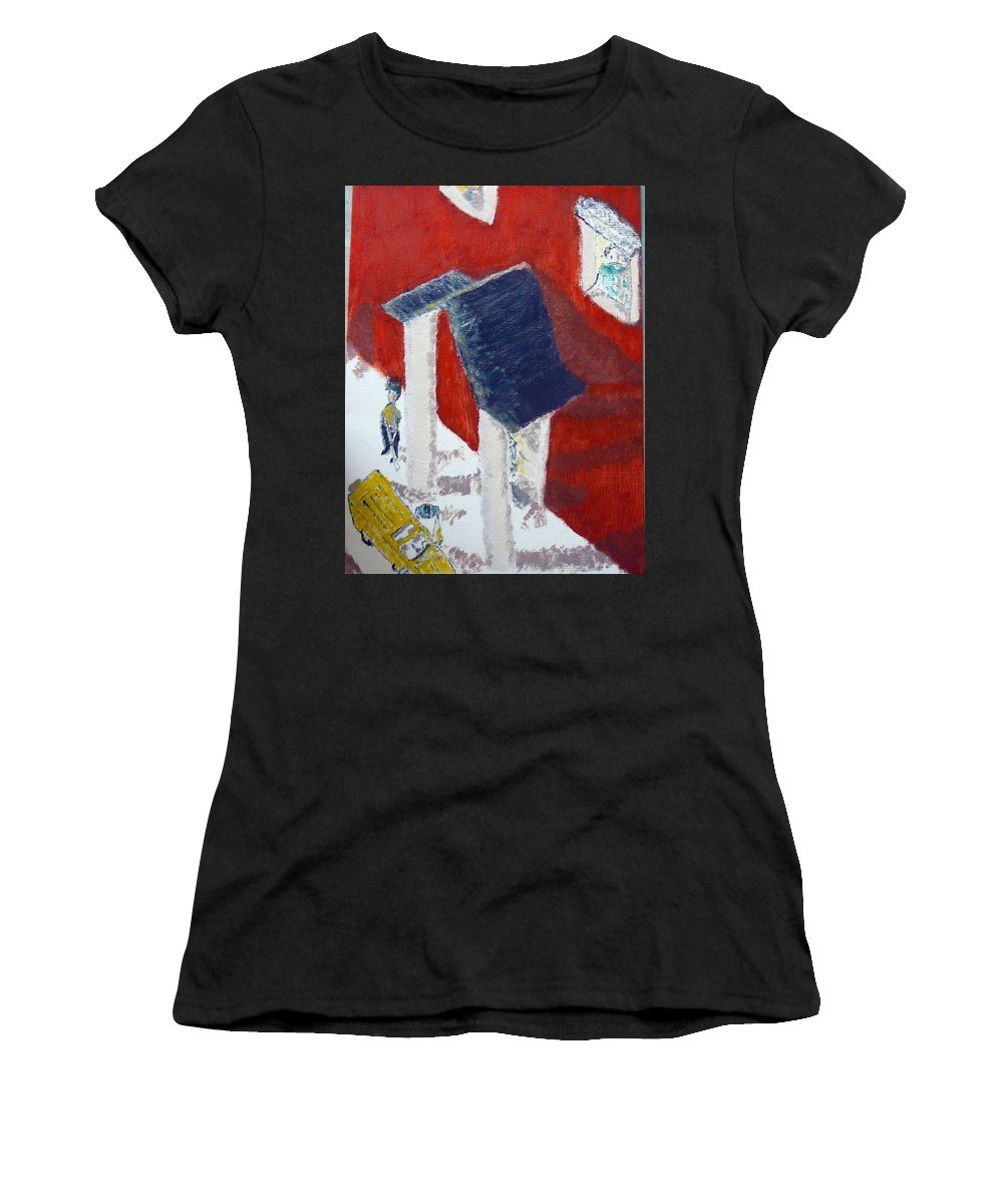 Social Realiism Women's T-Shirt (Athletic Fit) featuring the painting Accessories by R B