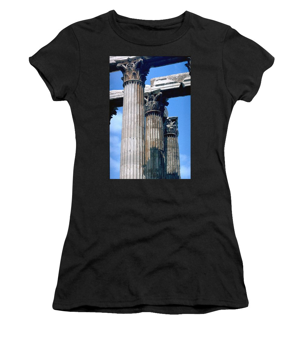Acropolis Women's T-Shirt (Athletic Fit) featuring the photograph Acropolis by Flavia Westerwelle