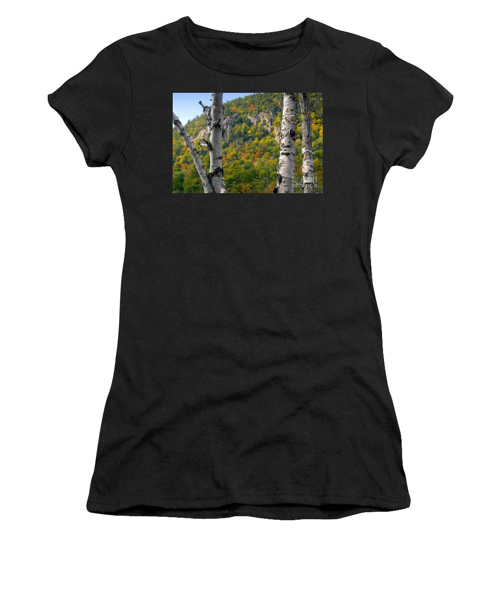 Adirondack Mountains New York Women's T-Shirt (Athletic Fit) featuring the photograph Adirondack Mountains New York by David Lee Thompson