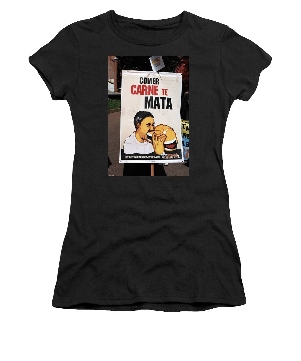 Bhagavad Gita Women's T-Shirt featuring the photograph Advice by David Cardona
