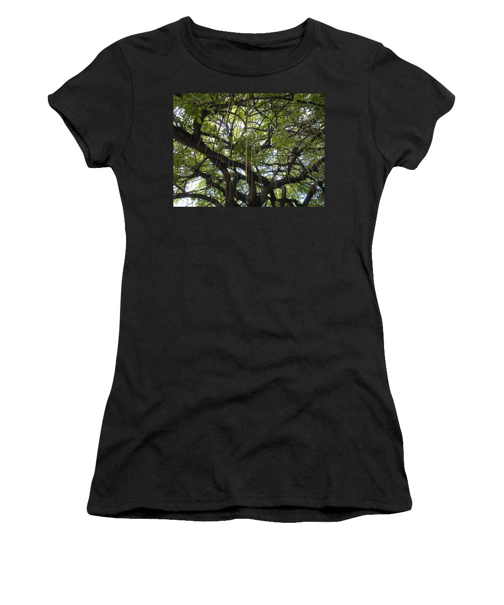 Trees Women's T-Shirt (Athletic Fit) featuring the photograph Aerial Network I by Maria Bonnier-Perez