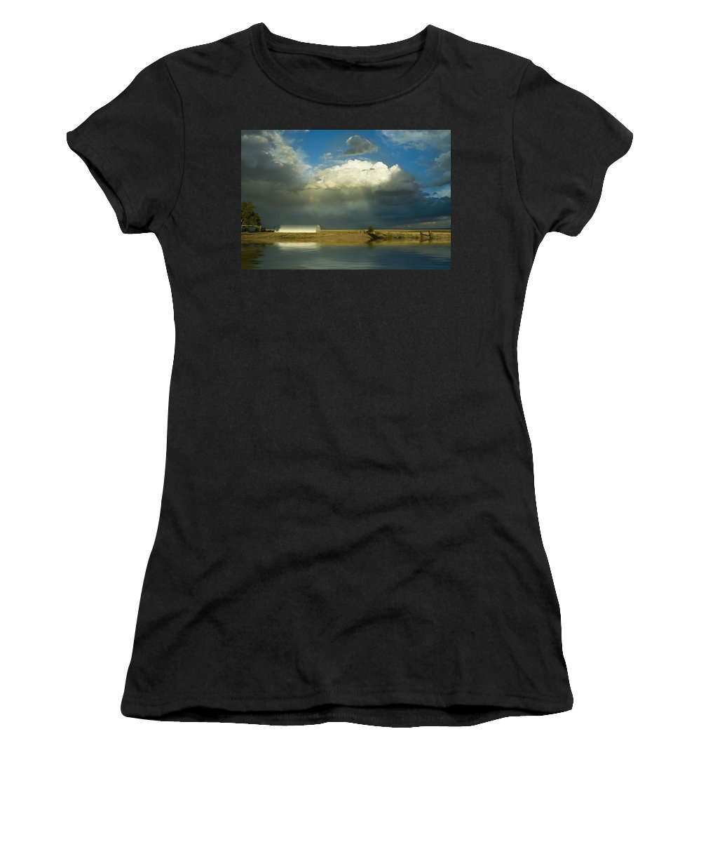Storm Women's T-Shirt (Athletic Fit) featuring the photograph After The Storm by Jerry McElroy