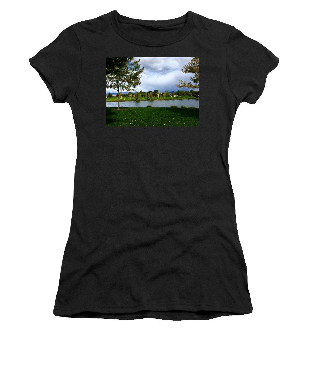Aunalea Vasquez Women's T-Shirt featuring the photograph Afternoon In The Park by Aunalea Vasquez