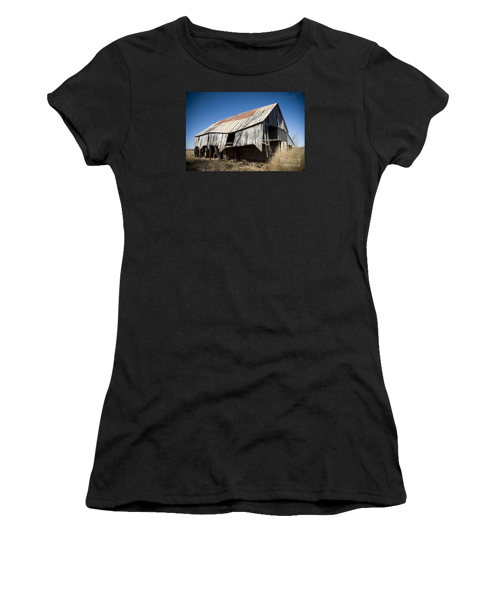 Abandoned Women's T-Shirt (Athletic Fit) featuring the photograph Aged But Not Forgotten by Daniel Brunner