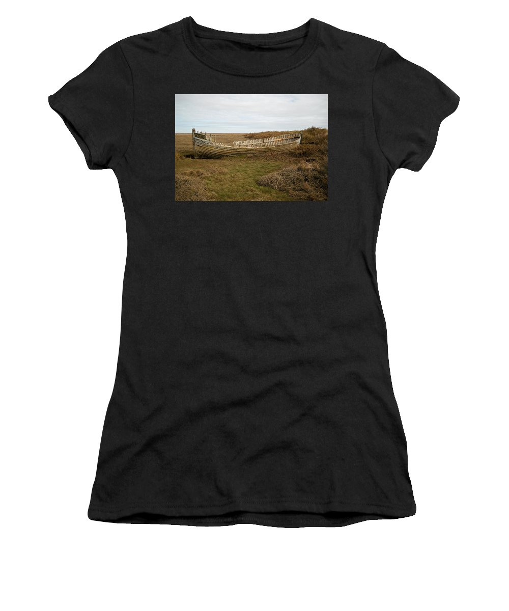 England Women's T-Shirt (Athletic Fit) featuring the photograph Aged Skeleton by Julia Raddatz