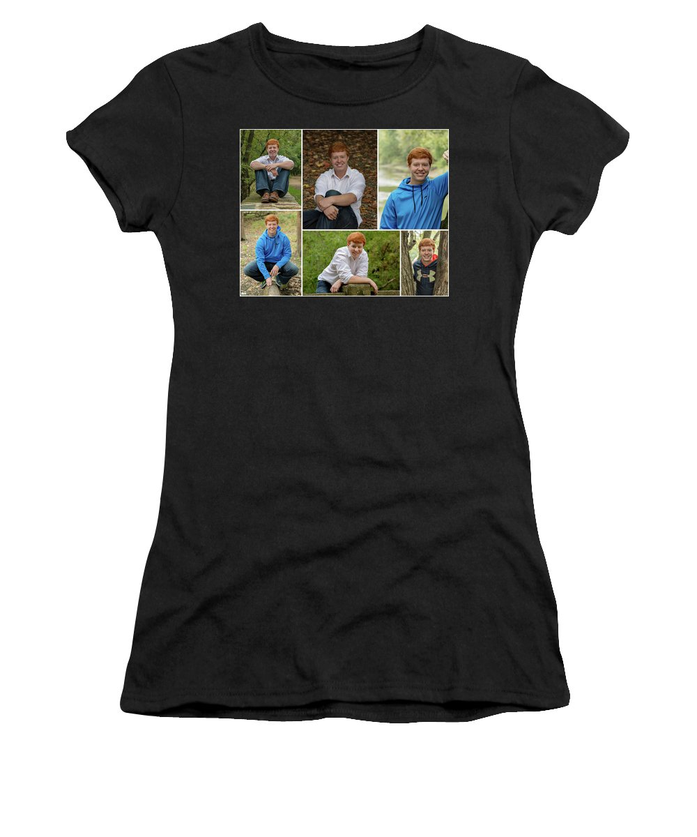 Aj Roberts Women's T-Shirt (Athletic Fit) featuring the photograph Aj Collage 2017 by Greg Thiemeyer