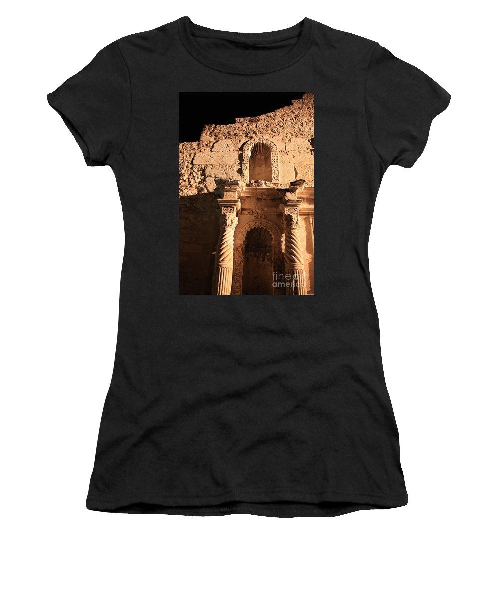 Alamo Women's T-Shirt (Athletic Fit) featuring the photograph Alamo Shadows by Carol Groenen