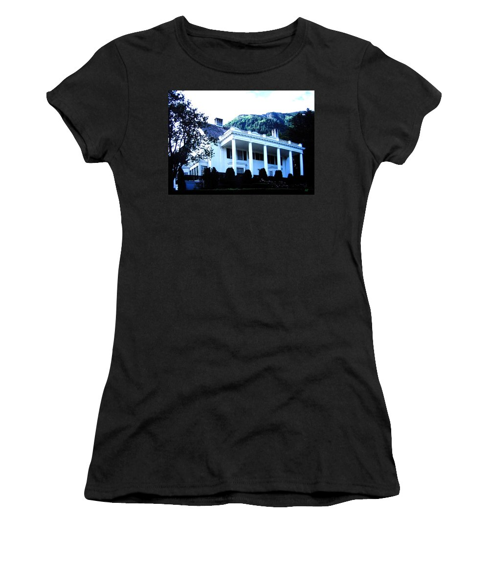 Alaska Women's T-Shirt (Athletic Fit) featuring the photograph Alaska Governors Mansion by Will Borden