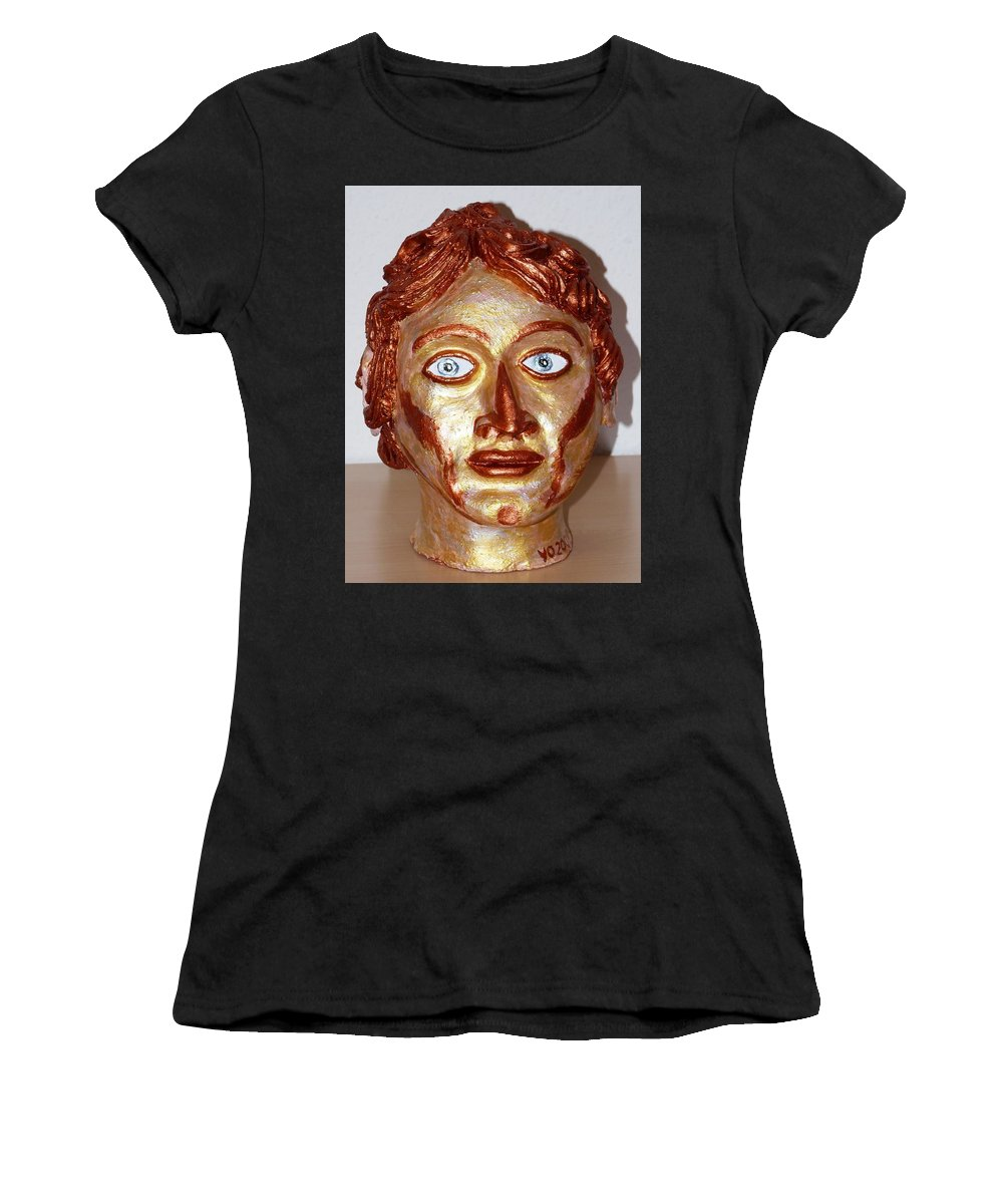 Alexander Women's T-Shirt (Athletic Fit) featuring the sculpture Alexander The Great by Valerie Ornstein