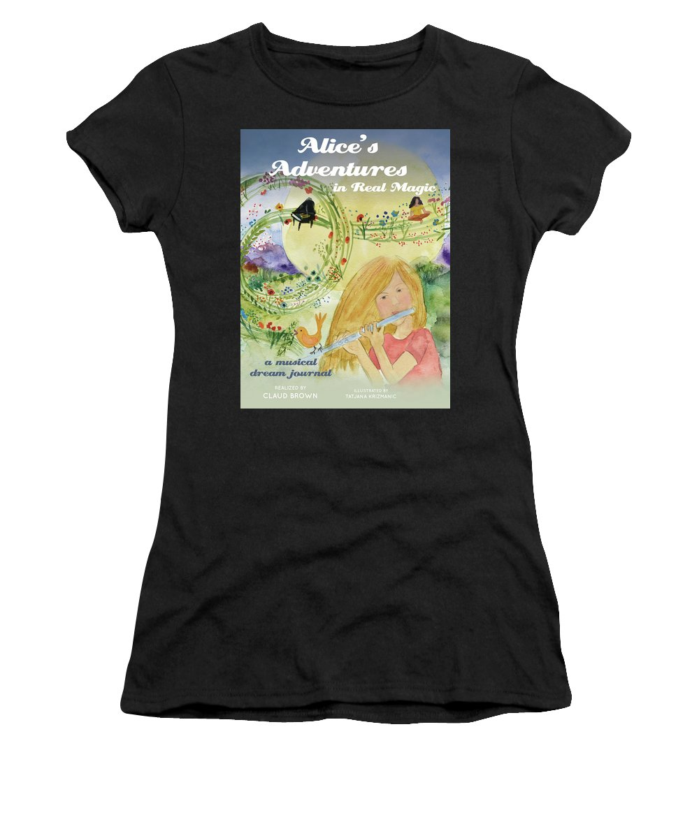 Women's T-Shirt (Athletic Fit) featuring the painting Alice Poster by Claud Brown