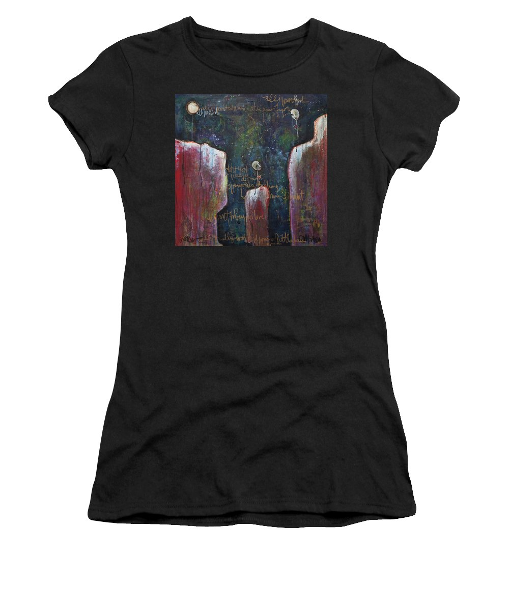 Lollipop Art Women's T-Shirt featuring the painting All I Wanted by Laurie Maves ART