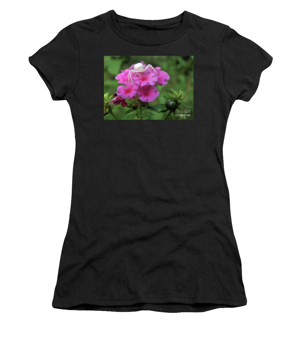 Insect Women's T-Shirt featuring the photograph All White by Donna Brown