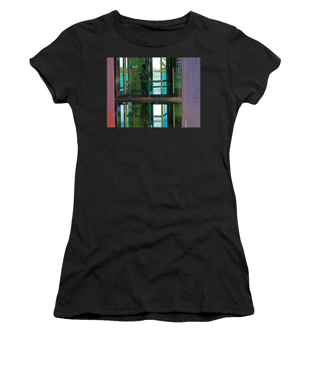 Abstract Women's T-Shirt (Athletic Fit) featuring the photograph Alternate Reality 24 by Lenore Senior