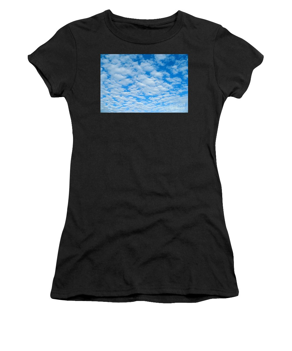 Afternoon Women's T-Shirt featuring the photograph Alto-cumulus by Greg Vaughn - Printscapes