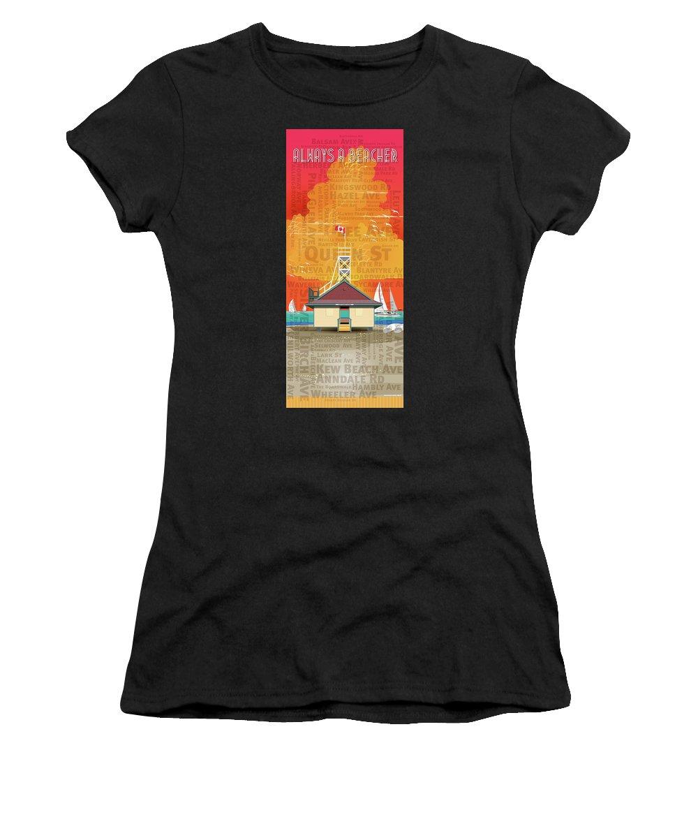 Toronto Women's T-Shirt (Athletic Fit) featuring the digital art Always A Beacher by David Loblaw