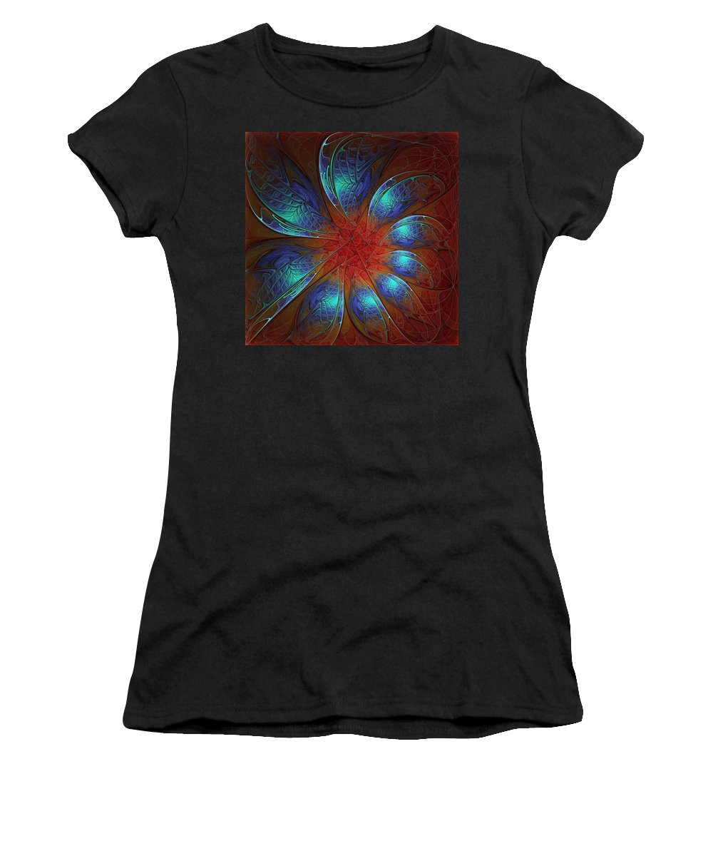 Digital Art Women's T-Shirt (Athletic Fit) featuring the digital art Always And Forever by Amanda Moore