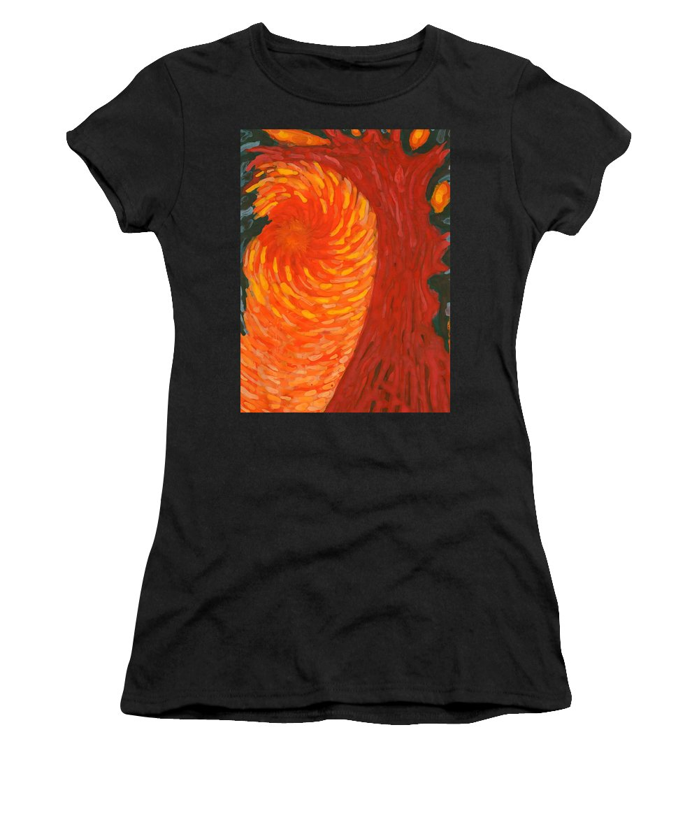 Colour Women's T-Shirt (Athletic Fit) featuring the painting Always Near You by Wojtek Kowalski