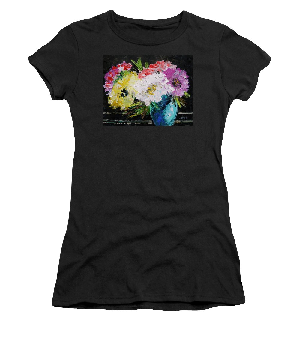 Flowers Women's T-Shirt (Athletic Fit) featuring the painting Always Nice To Come Home To by John Williams