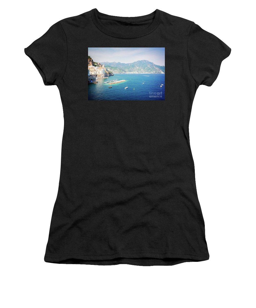 Amalfi Women's T-Shirt (Athletic Fit) featuring the photograph Amalfi Coast, Italy IIi by Anastasy Yarmolovich