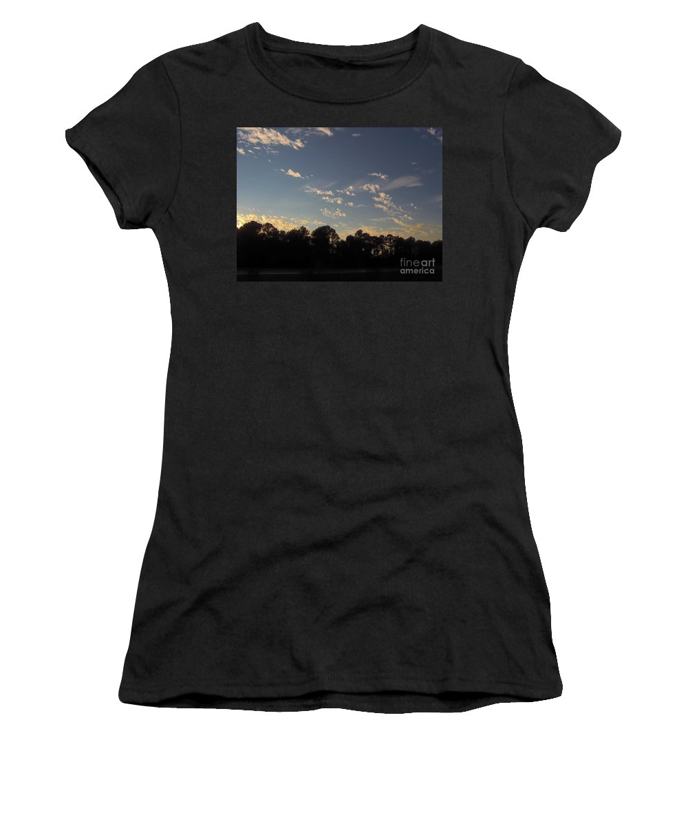Clouds Women's T-Shirt featuring the photograph Amazing Clouds Before Sunset by D Hackett