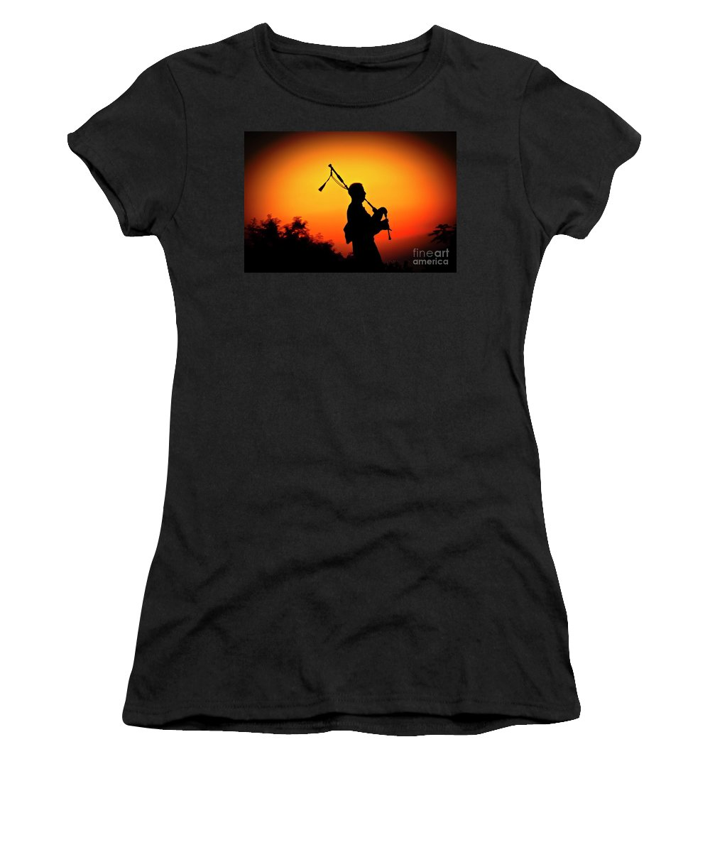 Sunset Women's T-Shirt (Athletic Fit) featuring the photograph Amazing Grace by Jim Cazel