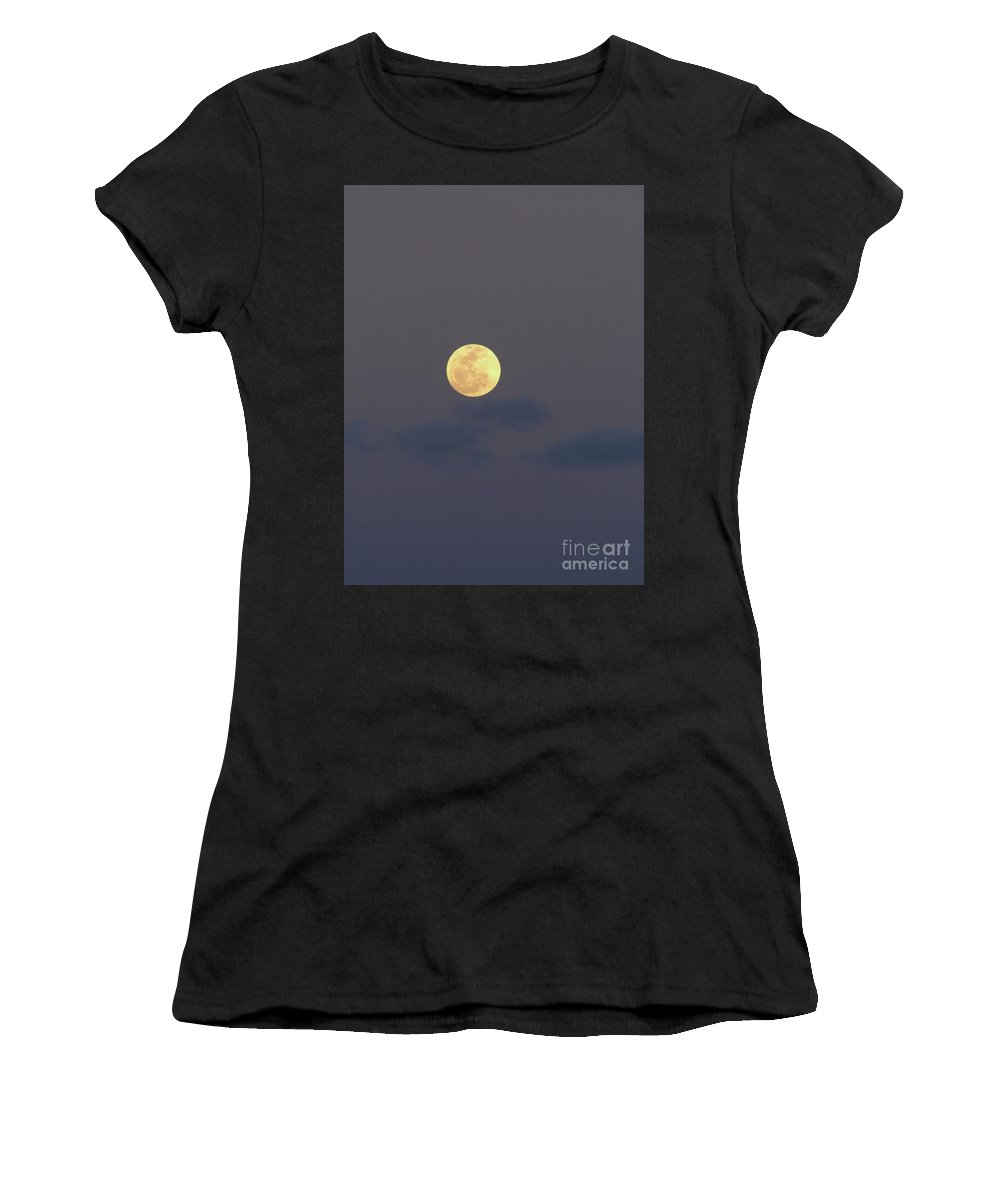 Moon Women's T-Shirt (Athletic Fit) featuring the photograph Amazing - Moon by D Hackett
