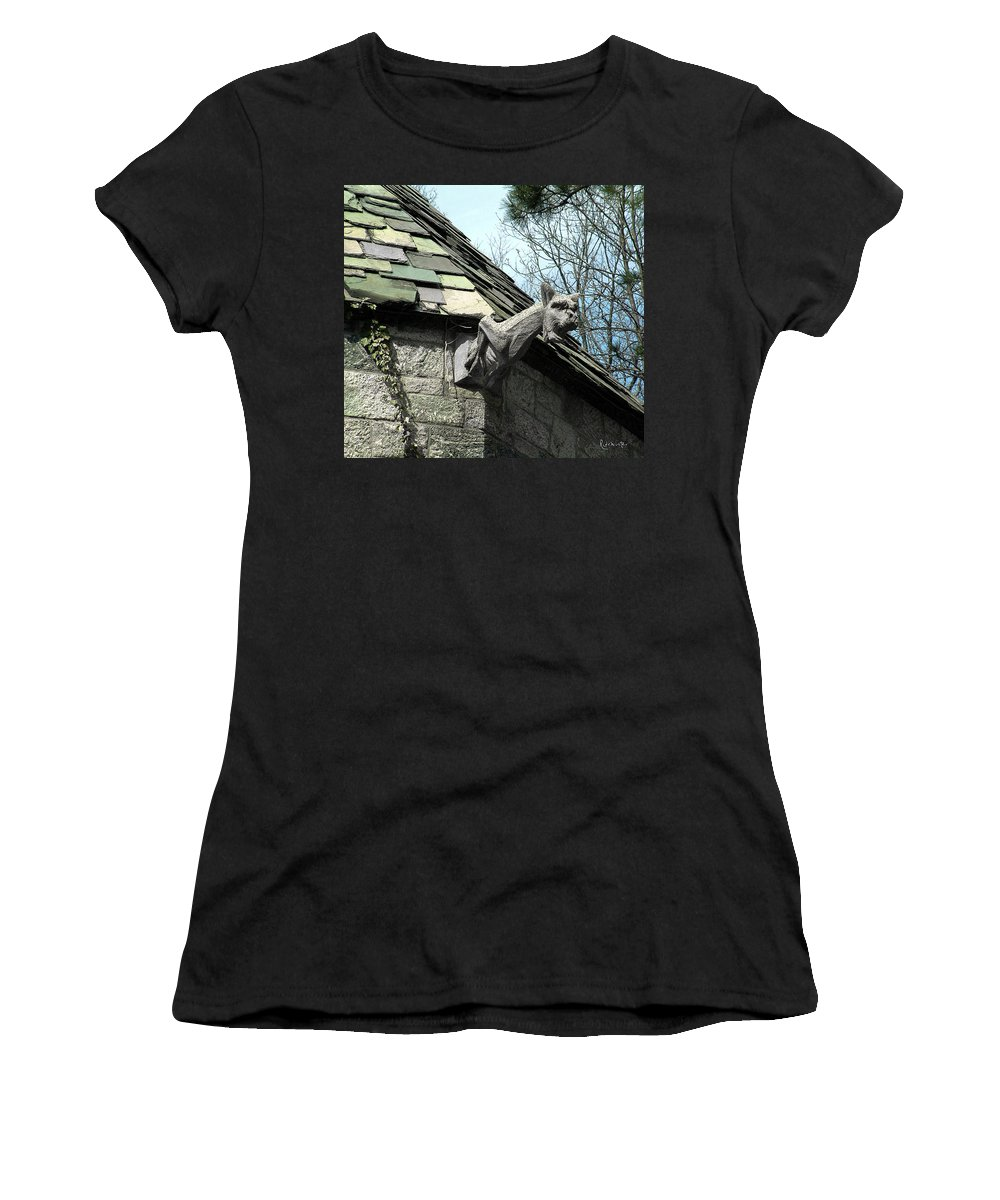 Architecture Women's T-Shirt (Athletic Fit) featuring the photograph American Gargoyle by RC DeWinter