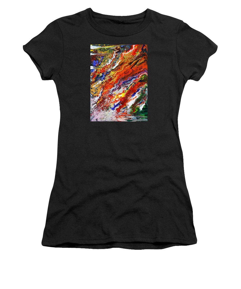 Fusionart Women's T-Shirt (Athletic Fit) featuring the painting Amplify by Ralph White