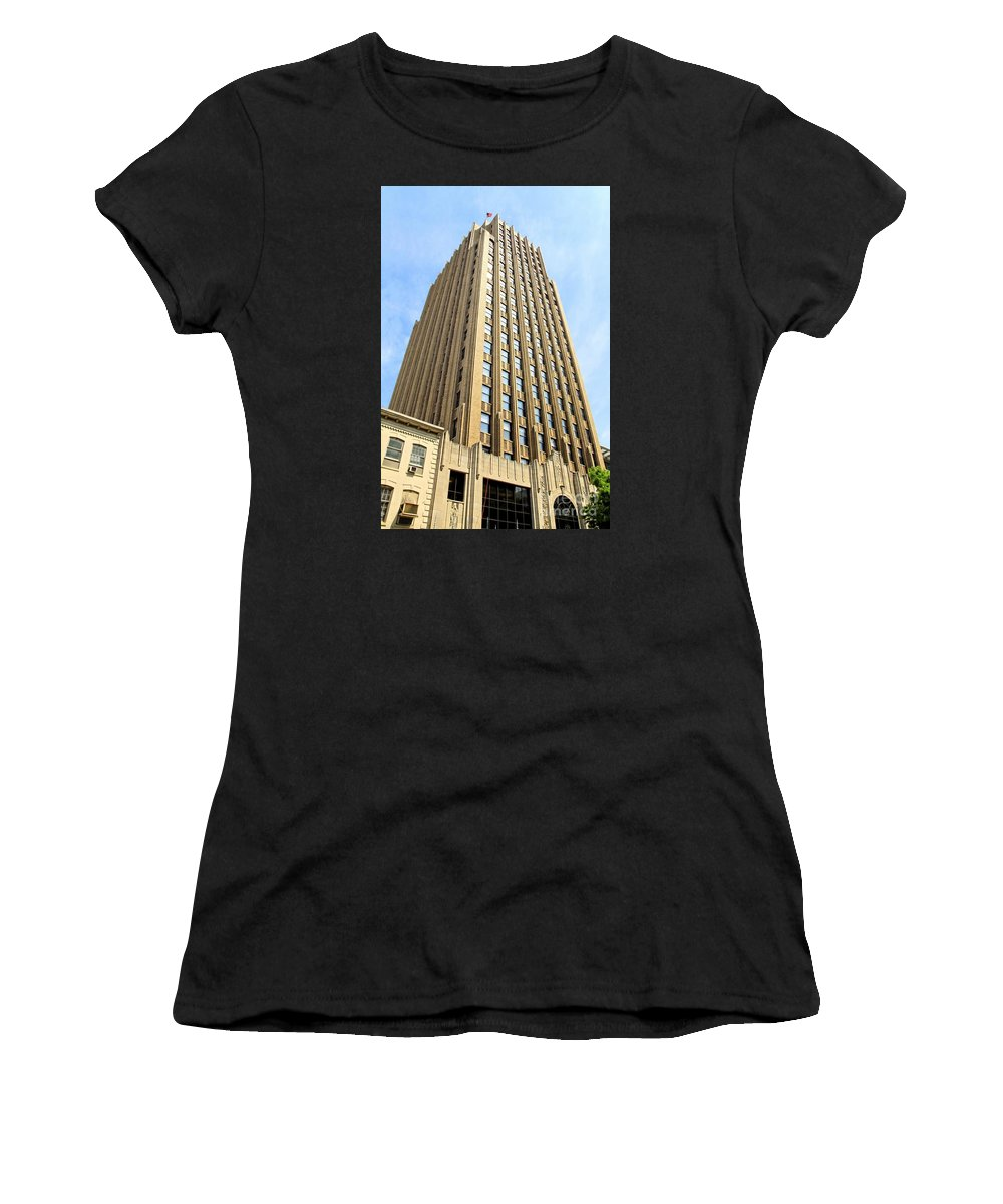 Lightning Women's T-Shirt (Athletic Fit) featuring the photograph An Allentown Icon by DJ Florek