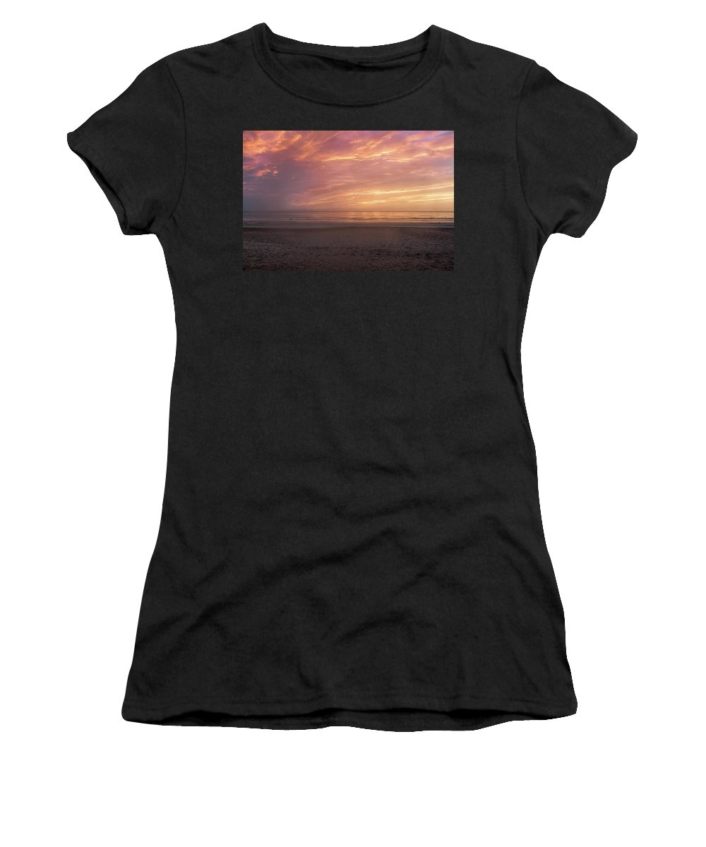 Beach Women's T-Shirt (Athletic Fit) featuring the photograph An Enchanted Morning by John M Bailey