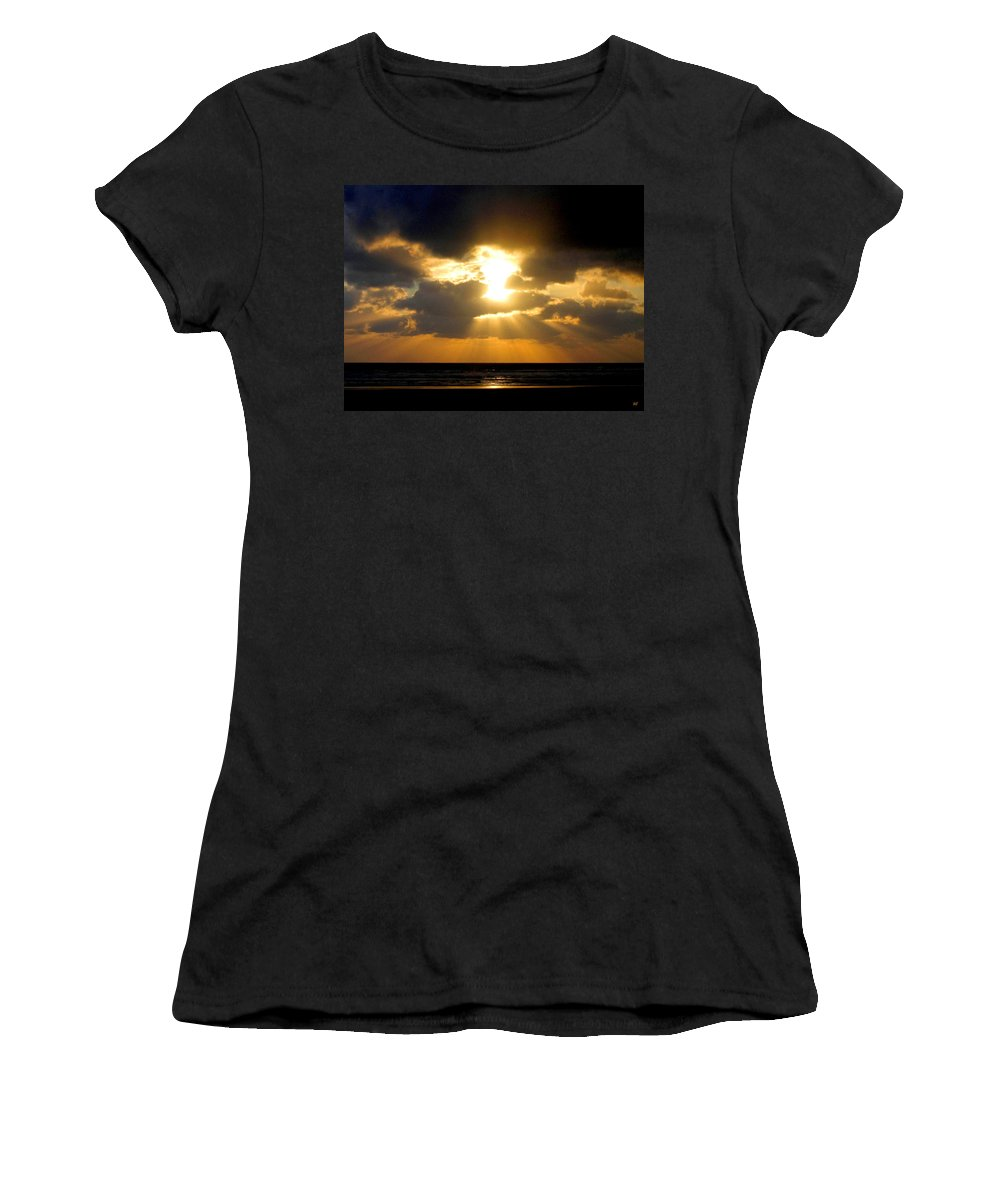 Sunset Women's T-Shirt (Athletic Fit) featuring the photograph An Inspiring Evening by Will Borden