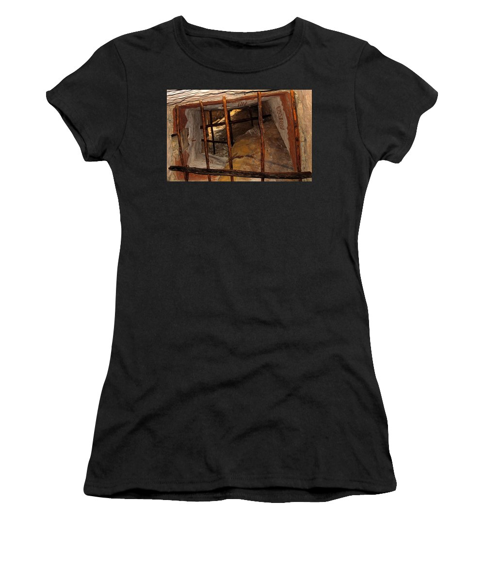 Anasazi Women's T-Shirt (Athletic Fit) featuring the photograph Anasazi Home by David Lee Thompson