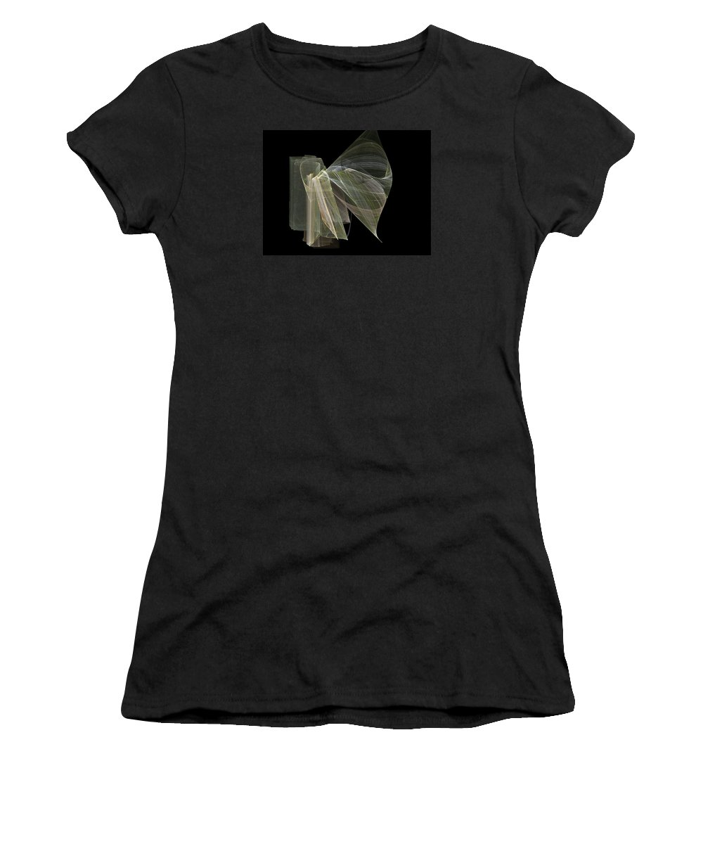 Experimental Women's T-Shirt (Athletic Fit) featuring the digital art And The Angel Spoke..... by Jackie Mueller-Jones